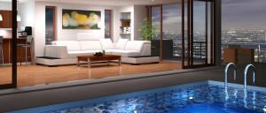 Location maison avec-piscine privé